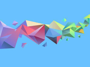 abstract rainbow geometric graphic