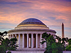 Jefferson Memorial at Sunset by Joseph Gruber.