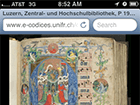 screenshot of a medieval manuscript on an iPhone
