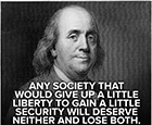 Benjamin Franklin with quote from paragraph 2