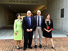judy-russell-chuck-eckman-elliott-shore-julia-zimmerman-at-u-miami-richter-library