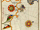 illuminated-manuscript-map-of-southern-spain-and-morocco-from-17th-century-book-on-navigation