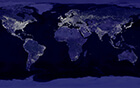 lights on earth at night from space