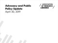 Advocacy and Public Policy Update, April 2019, Released by ARL