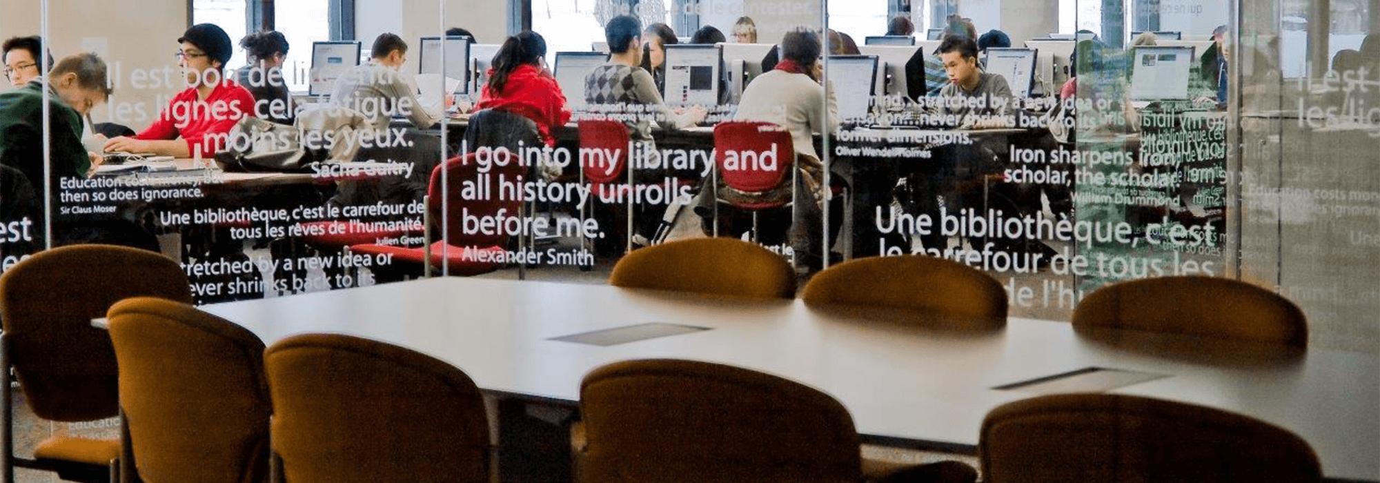 McGill University McLennan-Redpath Library Cybertheque interior