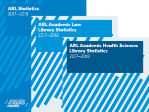 covers of the three 2017-2018 ARL Statistics publications