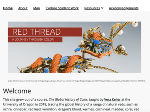 screenshot of Red Thread homepage