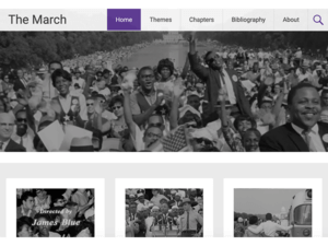 screenshot of The March homepage