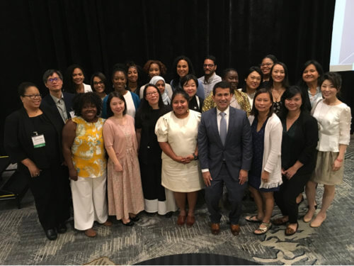 group photo of 2018–2019 ARL Leadership and Career Development Program Fellows at the Fall 2019 Association Meeting