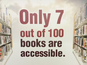 Only 7 out of 100 books are accessible