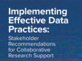 New Report Provides Recommendations for Effective Data Practices Based on National Science Foundation Research Enterprise Convening