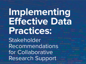 cropped cover of Implementing Effective Data Practices report