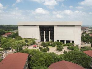 aerial view of Alkek Library
