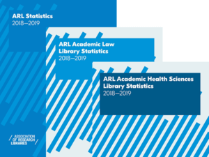 collage of the covers of the three ARL Statistics publications