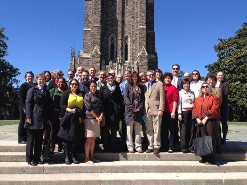group photo of 2016–2017 ARL Leadership Fellows cohort at Duke University