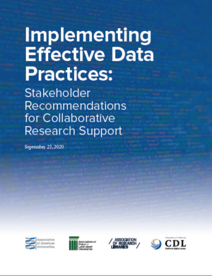 Implementing Effective Data Practices Report Cover.