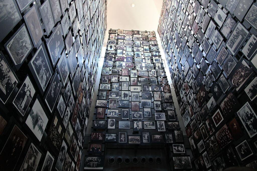 walls of framed photos