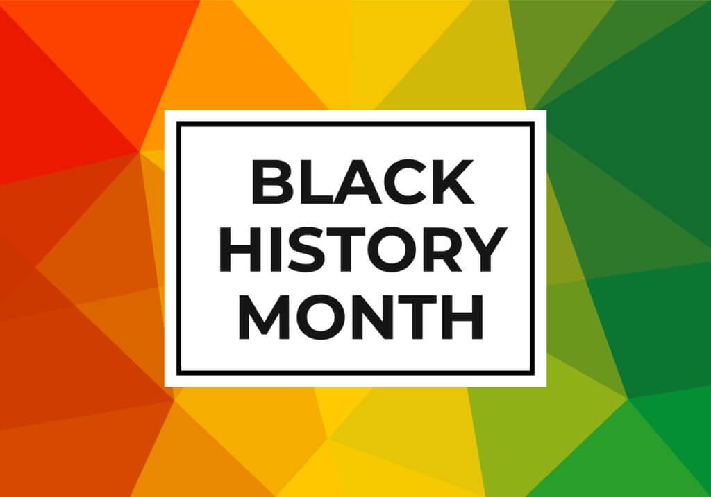 Black History Month banner decorative image