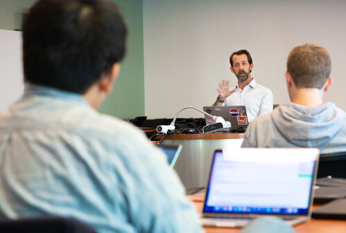 photo of UAZ data science specialist Jeffrey Oliver teaching in a classroom